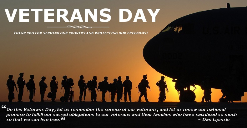 Veterans Day Landing Page