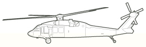 Black Hawk line art
