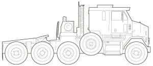 M1070 line art