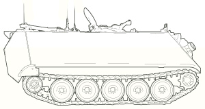 M113 line art
