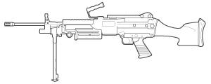 M-249 line art
