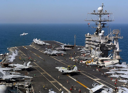 Navy USS Harry S. Truman flight deck