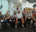 Charles Barkley Talks Shop with Wounded Warriors