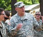 Odierno visits Soldiers in Germany