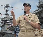 CNO Visits George Washington After Hull-Swap