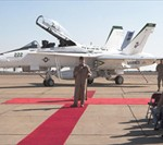 Restored F/A-18 Hornet unveiled during Medal of Honor dedication ceremony