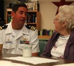 Lobster Festival Detachment Visits Maine Nursing Center