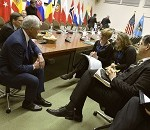 Hagel Meets With Defense Ministers of Spain, Italy, Denmark
