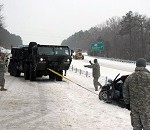 Soldiers and Airmen in Nine States Helping as Storm Pummels South and Middle-Atlantic