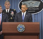 Obama Discusses Anti-ISIL Strategy With National Security Team at Pentagon
