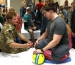 Prince Harry Visits Troops, Staff at Walter Reed Bethesda
