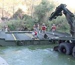 California Guard Bridge Company Crafts Water Crossing to Fight Fires