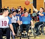 German and American Wounded Warriors Compete on Adaptive Sports Court