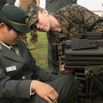Japan Ground Self-Defense Force Officer Candidates Learn from Marines