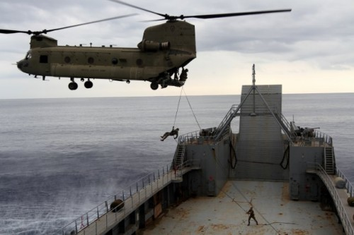 Soldiers and Marines Exercise Joint Capabilities