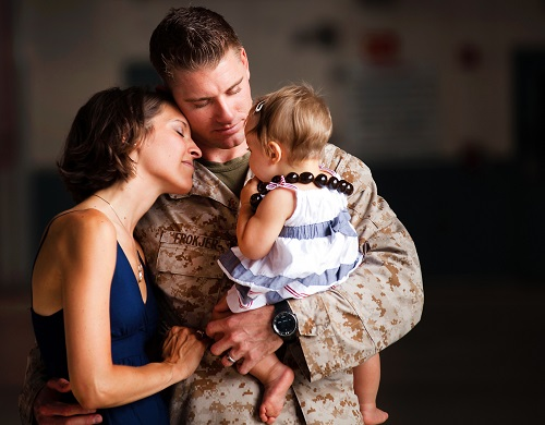 Soldier and his Family