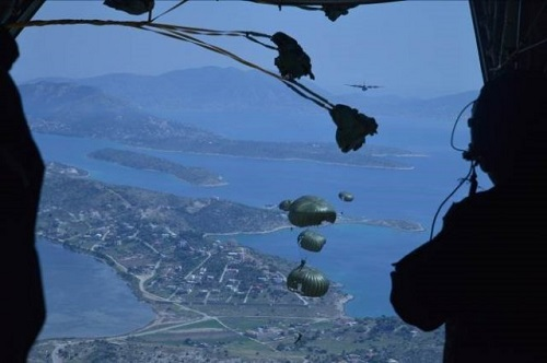 Greek Riggers Perform Airdrop Operations