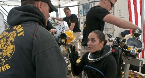 Female Army Diver