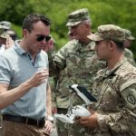 Soldiers Test Robot Tech During Visit by Army Secretary Fanning
