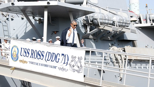 President Obama Visits Naval Station Rota