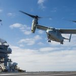 Vinson Completes V-22 Osprey Fleet Battle Experiment