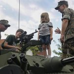 Marines with Special Purpose Marine Air Ground Task Force Display Equipment to Nashville Residents