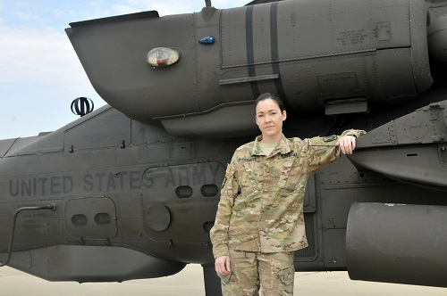 Female Apache Helicopter Pilot