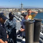 Sailors Train on Innovative Carderock-Developed Flight Deck Cleaning System Aboard USS America