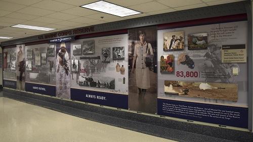 Marine Corps Reserve Centennial exhibit