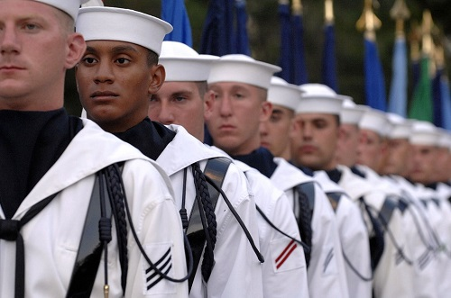 Navy sailors honor guard