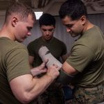 Marines Participate in Combat Life Saver Course at Sea