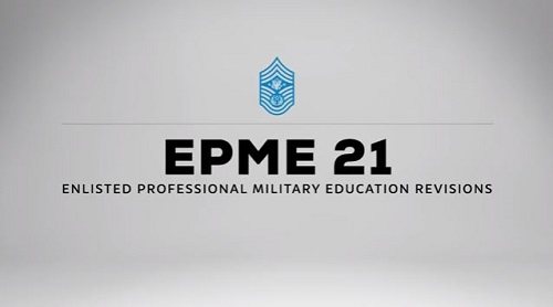 enlisted professional military education
