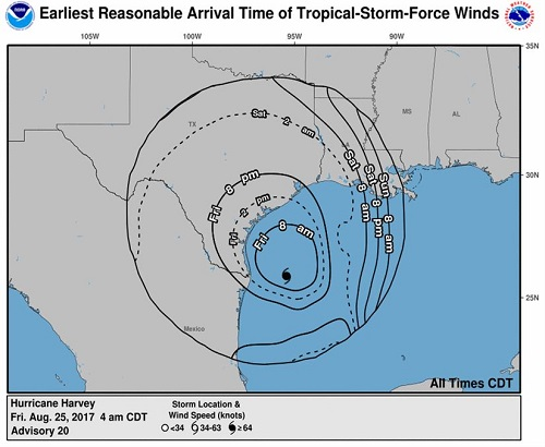 Hurricane Harvey's Landfall