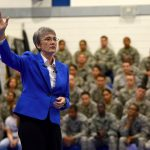 Secretary Of The Air Force Visits The Liberty Wing