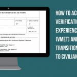 How to Access Your Verification of Military Experience and Training