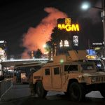Nevada Guard On Duty During 'America's Party' In Las Vegas