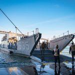 USS Anchorage Demonstrates Amphibious Beach Landing