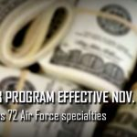 Air Force Releases FY20 Selective Retention Bonus Program