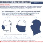 Air Force Releases Guidance on Use of Cloth Face Covers