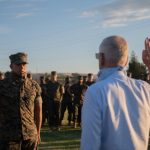 Mattis Swears in New Guard Member in Marine2Guard Program