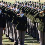 First BCT Class Graduates Wearing Army Green Service Uniform