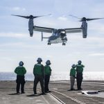 First Navy Osprey Landing, Take-off, Refueling on Aircraft Carrier