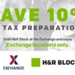 AAFES Offering 10% Off Tax Preparation at H&R Block