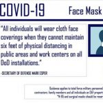DoD Announces Use of Masks and Other Public Health Measures