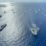 Multiple Allied Carrier Strike Groups Operate Together