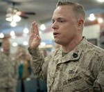 Barracks Marine Becomes Meritorious Gunnery Sergeant