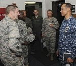 Air Force Global Strike Command Commander Visits USSTRATCOM