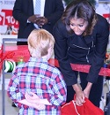First Lady Lauds Military Families for Toys for Tots Work