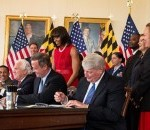 First Lady Joins Maryland Governor at Veterans' Bill Signing
