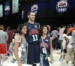 U.S. Basketball Teams Wow Service Members, Families